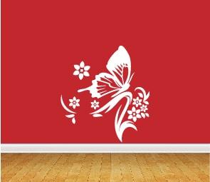 boton ramas y mariposa