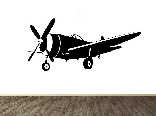 Vinilo decorativo avioneta